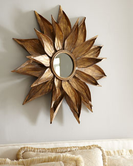 """Golden Petals"" Mirror"