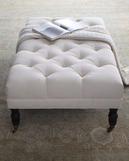 """Ellsworth"" Rectangular Tufted Ottoman"