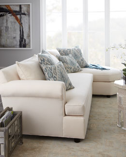 "Old Hickory Tannery ""Ellsworth"" Neutral Two-Piece Sectional"