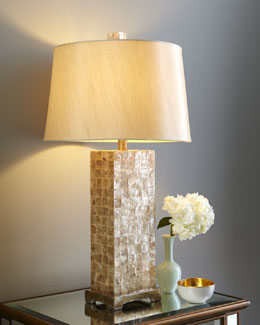 Capiz Square-Base Lamp