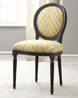 "Old Hickory Tannery ""Gretna"" Yellow Side Chair"