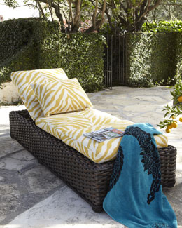 """Zebra"" Outdoor Chaise"
