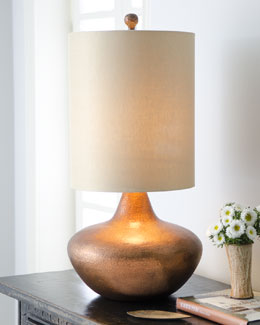 John-Richard Collection Hammered Copper Drum Lamp