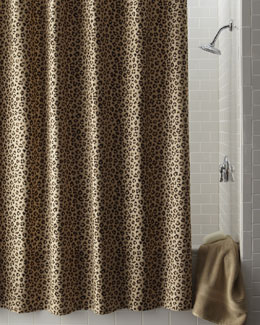 Legacy Home Leopard-Print Shower Curtain