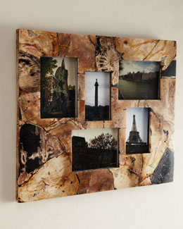 Janice Minor Petrified Wood Collage Frame