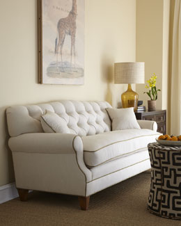 "Key City Furniture ""Ricci"" Tufted-Back Sofa"