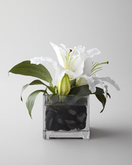 "John-Richard Collection ""Evening White"" Faux Floral"