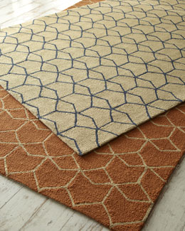 """Hexagon"" Outdoor Rug, 5' x 7'6"""