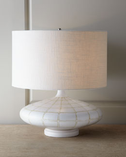 "Global Views Ivory ""Onion"" Lamp"