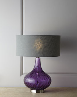 """Amethyst"" Glass Table Lamp"