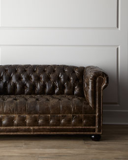 "Old Hickory Tannery ""St. Andrews"" Leather Sofa"