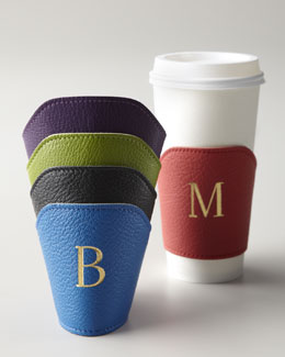 Graphic Image Leather Coffee Cozies
