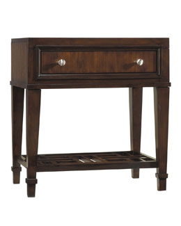 """Dena"" Fretwork Nightstand"
