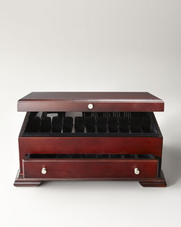 Wallace Dark Walnut Flatware Chest