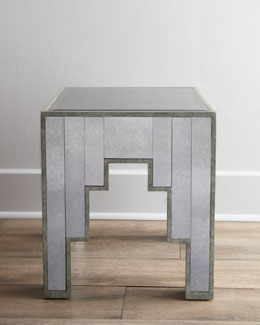 """Jewel"" Mirrored Side Table"