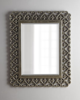 Antiqued Silver-Leaf Mirror