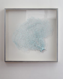 "Karen Robertson Collection ""Blue Haze"" Sea Fan Wall Decor"