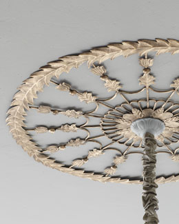 """Golden Leaves"" Ceiling Medallion"