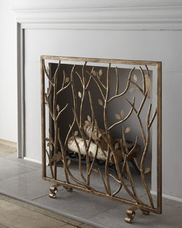 """Bird & Branch"" Fireplace Screen"