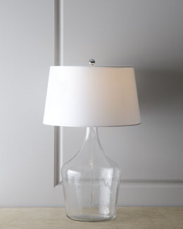 "Regina-Andrew Design Clear Recycled Glass ""Bottle"" Lamp"