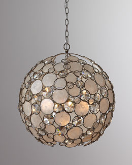 Antiqued Silver-Leaf Chandelier
