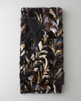 Adrienne Landau Multi-Piece Mink Throw