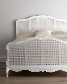 "Shabby Chic ""Elliana"" Queen Cane Bed"
