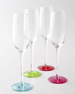 "kate spade new york Four ""Say the Word"" Flutes"