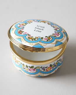 "Halcyon Days Enamels ""With Much Love"" Box"