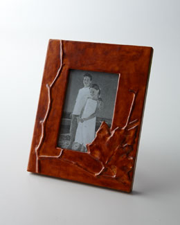 "Leather Leaf 4"" x 6"" Picture Frame"