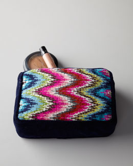 Jonathan Adler Needlepoint Accessory Bag