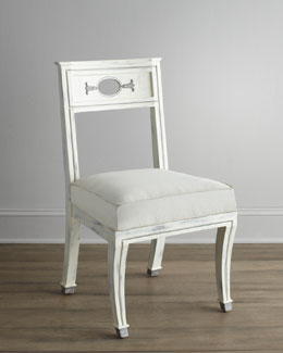 "Florence de Dampierre ""Chaney"" Rubbed-White Chair"