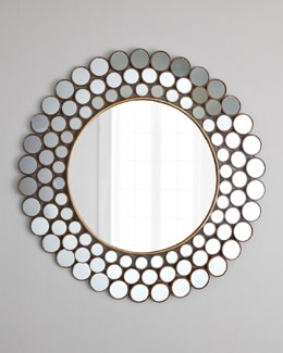 """Mirrored Circles"" Accent Mirror"