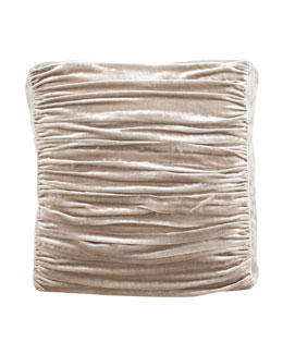Dian Austin Couture Home Ruched Velvet European Sham
