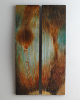 "John-Richard Collection ""Whirlpool"" Diptych"
