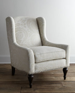 "Bernhardt ""Dunning"" Wingback Chair"