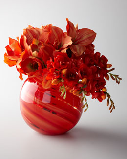"John-Richard Collection ""Orange Sherbet"" Faux Floral Arrangement"