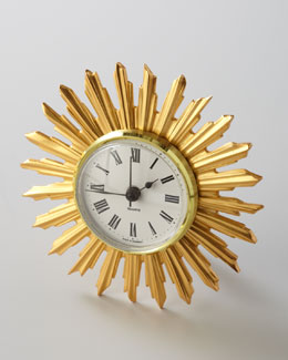 "BANCHI ""Sunburst"" Desk Clock"