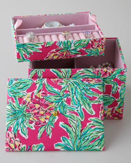 "Lilly Pulitzer Pink ""Spike the Punch"" Jewelry Box"