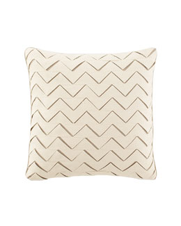 "Dransfield & Ross House Square Zigzag Pillow, 18""Sq."