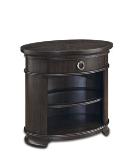"""Dickinson"" Oval Nightstand"
