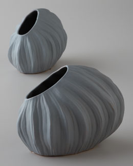 Arteriors Two Gray Vases