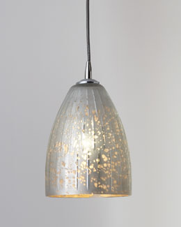 "Jamie Young ""Striped Silver"" Dome Pendant Light"