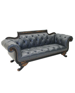 "Old Hickory Tannery ""Cordoba"" Leather Sofa"