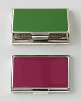 Enameled Business Card Case