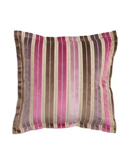 Designers Guild Regence Striped Cut-Velvet European Sham