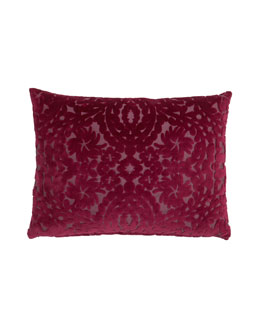 "Designers Guild Raspberry Ombre Velvet Pillow, 18"" x 24"""