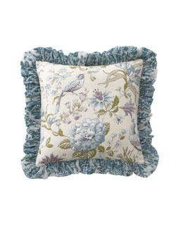 "Dian Austin Couture Home Ruffled Cotswold Cottage Pillow, 20""Sq."