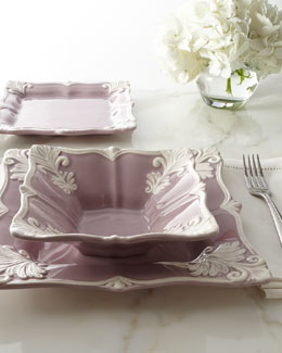 "12-Piece Purple Square ""Baroque"" Dinnerware Service"