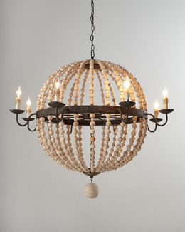 Regina-Andrew Design Wood Bead Sphere Chandelier